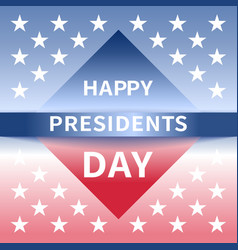Happy presidents day banner vector