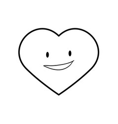 Heart funny cartoon vector