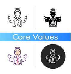 Humility icon vector