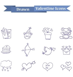 Icon of valentine element collection vector