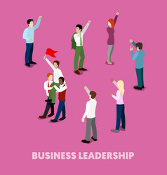 Isometric business people leadership concept vector