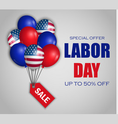 Labor day special sale concept background vector