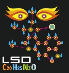 lsdmolecule vector image