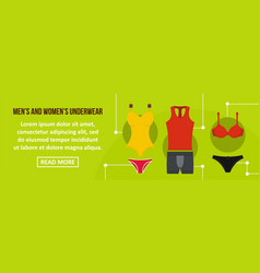 men and women underwear banner horizontal concept vector image