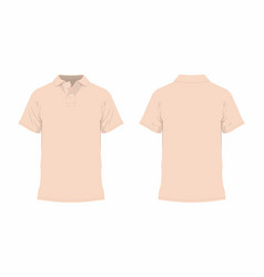 Mens beige t shirt vector