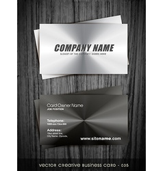 metallic business card vector image