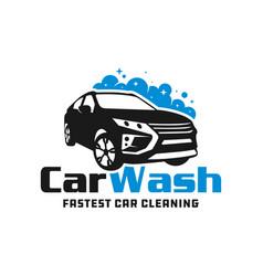 modern car wash logo vector image