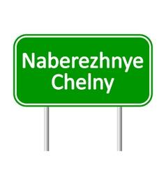 Naberezhnye Chelny road sign vector