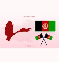 National map badakhshan flag badakhshan vector