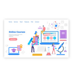 online courses people learning subjects internet vector image