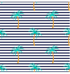 palm tree tropical vertical striped summer vector image