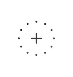 plus icon in dotted circle cross symbol for your vector image