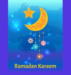 Ramadan kareem sightings crescent moon star vector