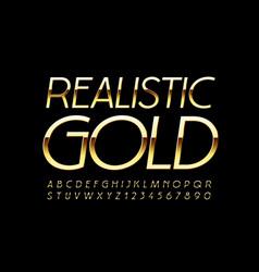 realistic gold luxury font premium elegant vector image