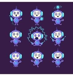 Robot Different Activities Set vector