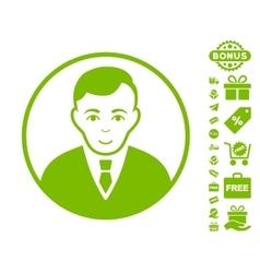 Rounded Gentleman Icon With Free Bonus vector image