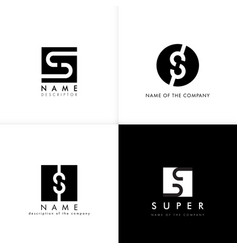 S logo letter monogram design template vector