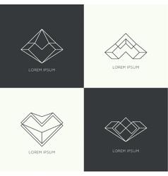 Set of hipster logo vector