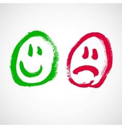 Smiley face cartoon vector