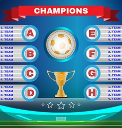 Soccer Champions Template vector image