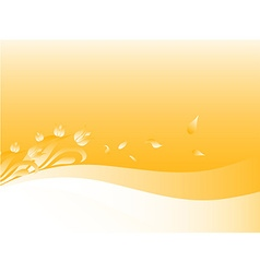 Soft Yellow Summer Background vector