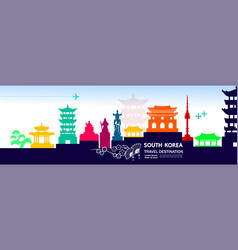south korea travel destination vector image