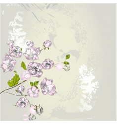 stylized spring background vector image