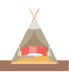 Tent-hut for childrens games vector