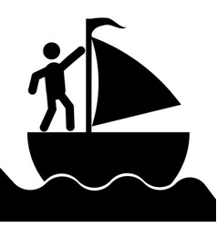 the sailboat icon vector image