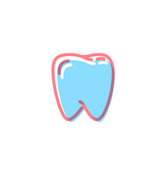 tooth icon in modern colors on white vector image