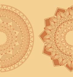 Two mandala spiritual hinduism vintage vector