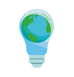 world and bulb vector image
