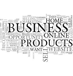 best home based business opportunity text word vector image vector image
