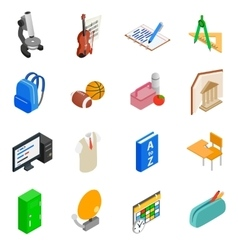 Education and knowledge icons set vector image vector image