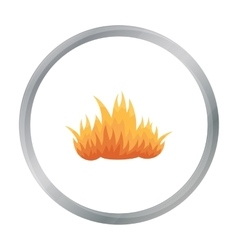 Fire icon cartoon Single silhouette fire vector image