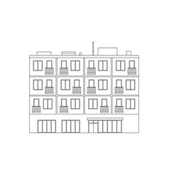 apartment house line drawing vector image vector image