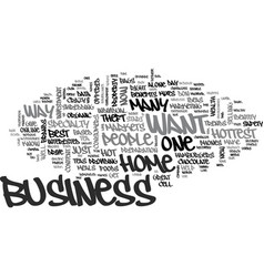 best home based business text word cloud concept vector image