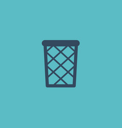 flat icon wastebasket element vector image vector image