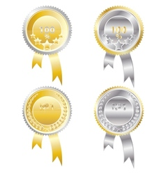 four medals vector image vector image