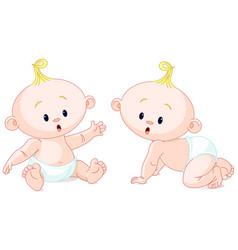 sweet twins vector image