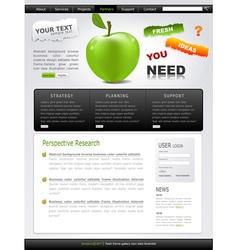 grey-green website with apple vector image
