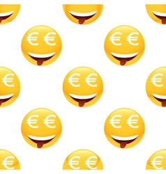 Obsessed by money emoticon pattern vector image
