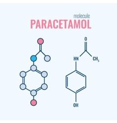 Paracetamol acetaminophen analgesic drug molecule vector image