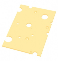 slice of cheese vector image vector image