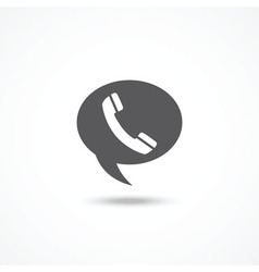 Telephone on word bubble speech vector image vector image