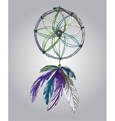 watercolor dream catcher vector image