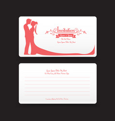 002 invitation wedding card template with vector image