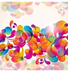 Abstract background with bright elements vector image vector image