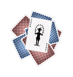 Back side of playing cards and joker vector