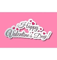 Happy Valentines Day Words Pink vector image